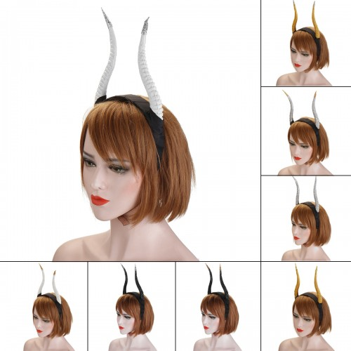 Girls Halloween Stereo Devil Horn Headband Cosplay Hair Hoop for Party Decoration
