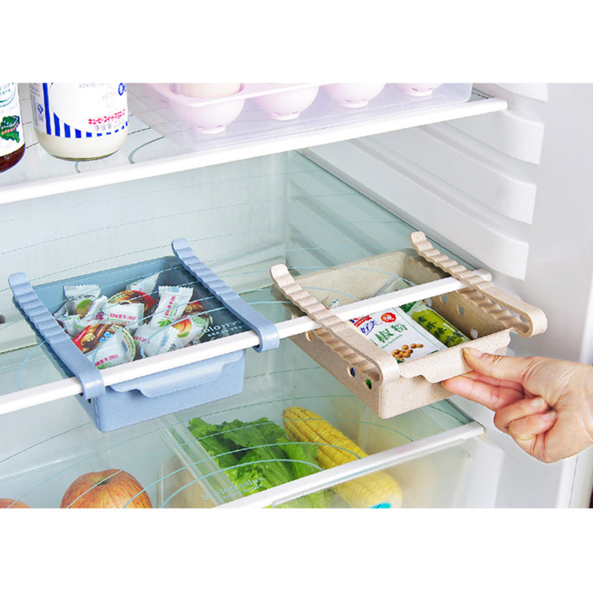 Refrigerator Storage Box Fridge Fruit Food Container Rack Home Kitchen Organizer