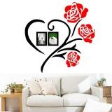 50×50/80x80cm 3D Roses Acrylic Wall Sticker Vinyl Art Decor Living Room Home Decal