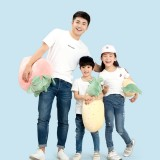 Xiaomi Cotton Kids T-Shirts Breathable Round Neck Casual Short-sleeved Tops 3D Pineapple Printed Short Tees