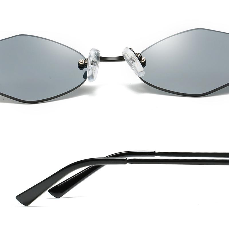 Womens Universal UV Resistence Hexagon Frameless Sunglasses Non-Polarized Eyewear