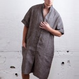 Mens Cotton Comfy Short Sleeve Loose Rompers Overalls Jumpsuit