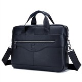 Men Genuine Leather Shoulder Bag Business Travel Crossbody Messenger Handbag Briefcase