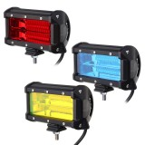 5Inch 48W 24 LED Work Light Bar Flood Beam Lamp for Car SUV Boat Driving Offroad ATV