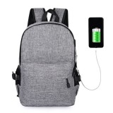 15L Outdoor USB Anti-theft Backpack Rucksack Laptop Bag School Shoulder Bag Camping Travel