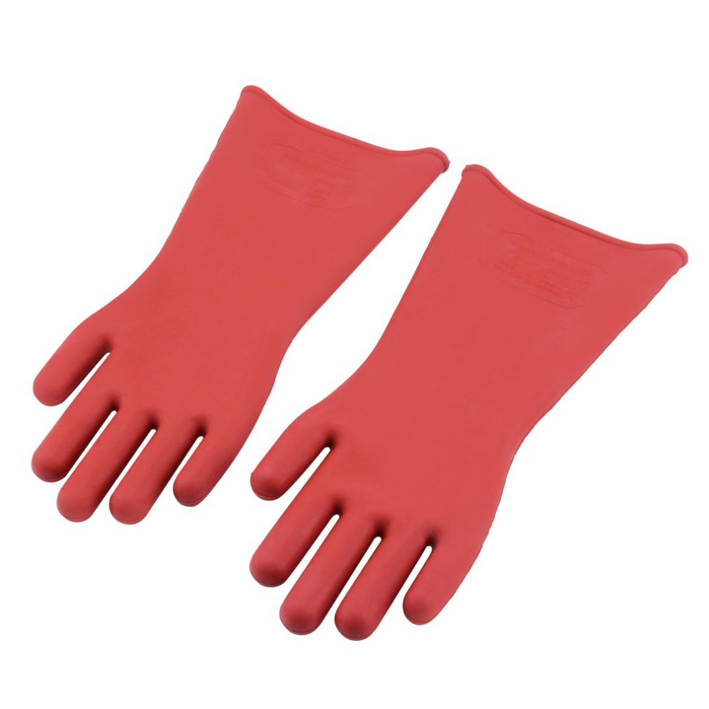 Professional 12KV High Voltage Electrical Insulating Gloves Rubber Electrician Safety Work Gloves 40cm