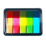 Deli 9060 Fluorescent Colorful Indication Classification Stickers Cute Pad Memo Classification Labels School Office Stationery Supplies