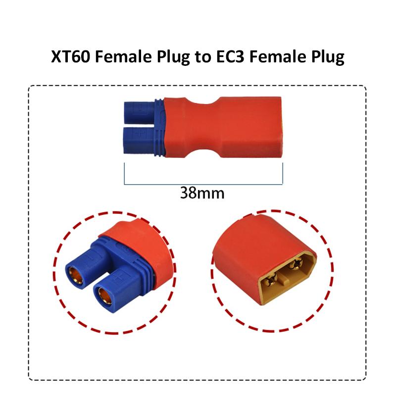 XT60 Male Female to EC3 Male Female Plug T Male to EC3 Female Plug Connector for RC Model