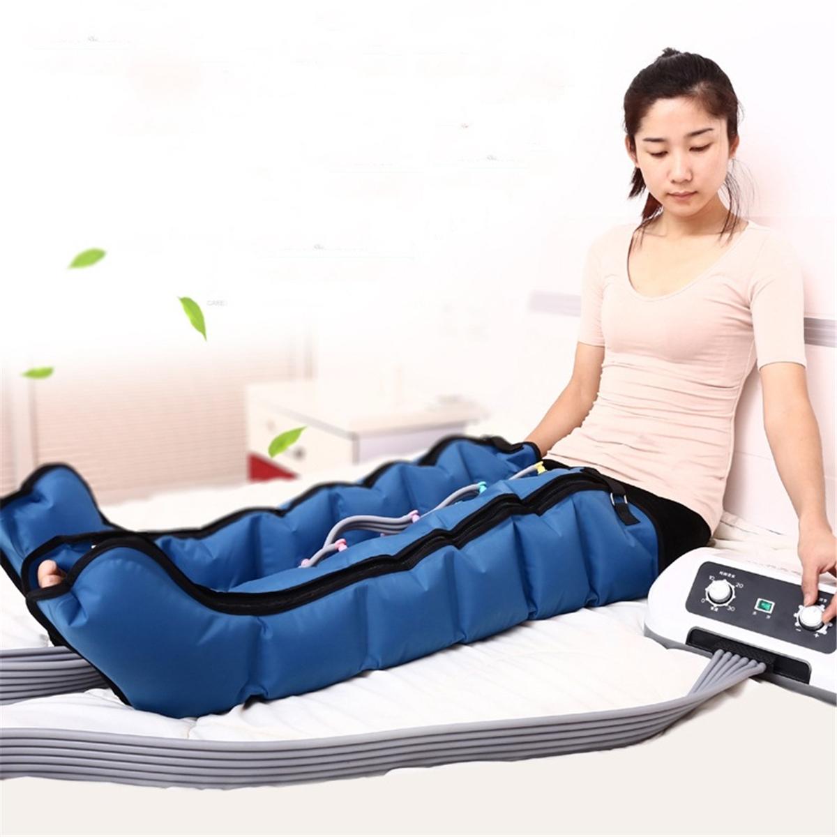 6 Air Chambers Leg Compression Massager Arm Waist Calf Relaxed Circulation Pressure Massage Electric Massager