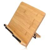 Portable Wooden Bookshelf Stand Bible Cookbook Music Book laptop Holder Folding Rack Reading Tool