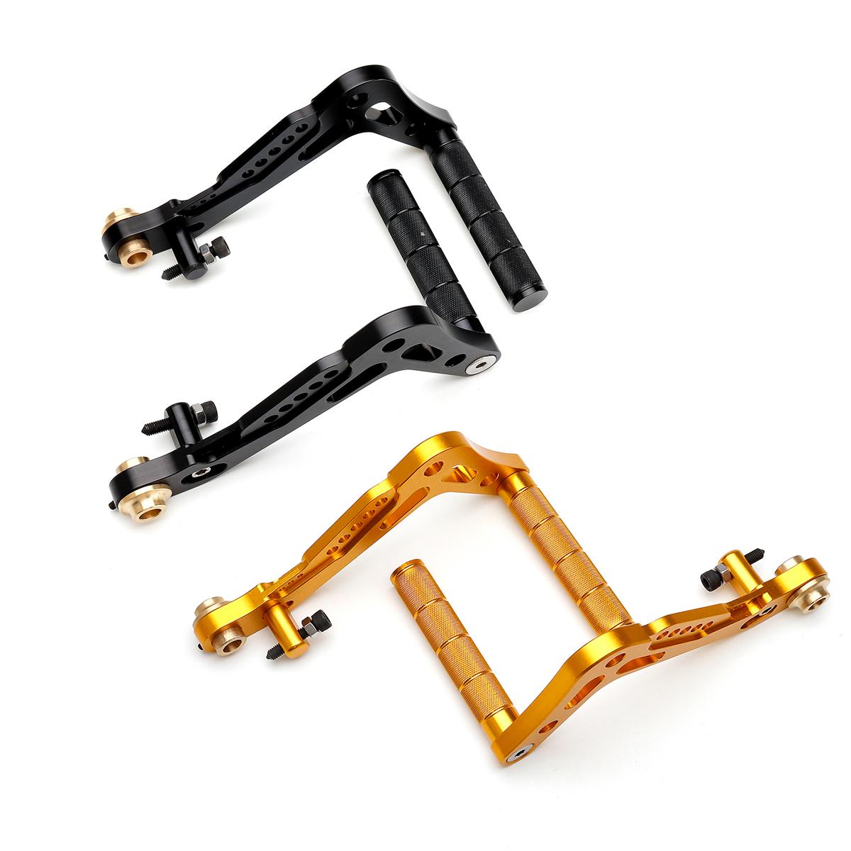 CNC Billet Aluminum Adjustable Go Kart Pedals Brake Accelerator Foot Peg Set New