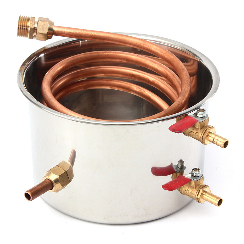 10L 2Gal Home DIY Alcohol Distiller Moonshine Ethanol Copper Still Stainless Kit Still Stainless Brewing Equipment