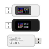Digital 10 in 1 Colorful LCD Display USB Tester Voltage Current Tester USB Charger Tester Power Meter