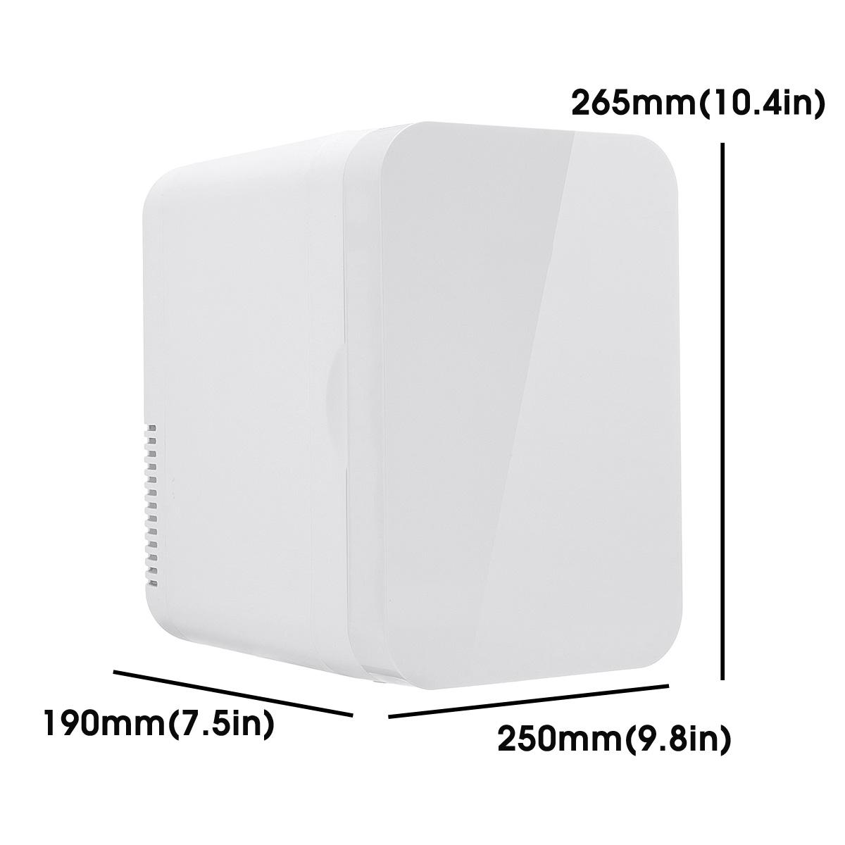 6L Mini Refrigerator Small Household Dormitory Single Door Car Home Dual-use Car Refrigerator