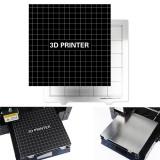220*220mm MK3 Spring Steel Steel Heated Bed + Platform Sticker with Back Glue For RepRap i3/Wanhao/Anet A8/Ender-3 Printer