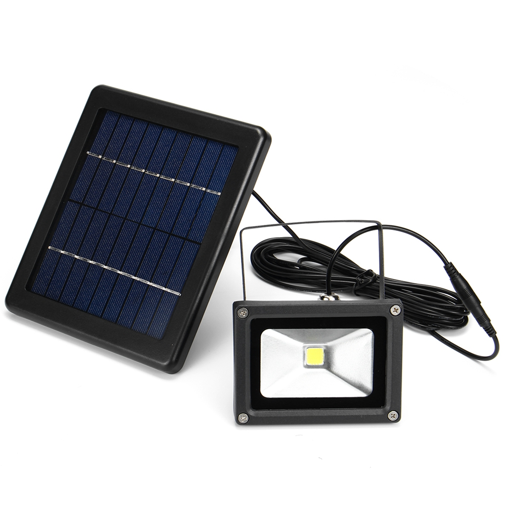 10W Solar Power LED Flood Light Outdoor Garden Wall Spotlight Waterproof