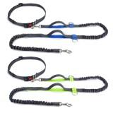 Hands Free Dog Leash Running Jogging Waist Belt Pet Training Elastic Leashes Dog Training Stick