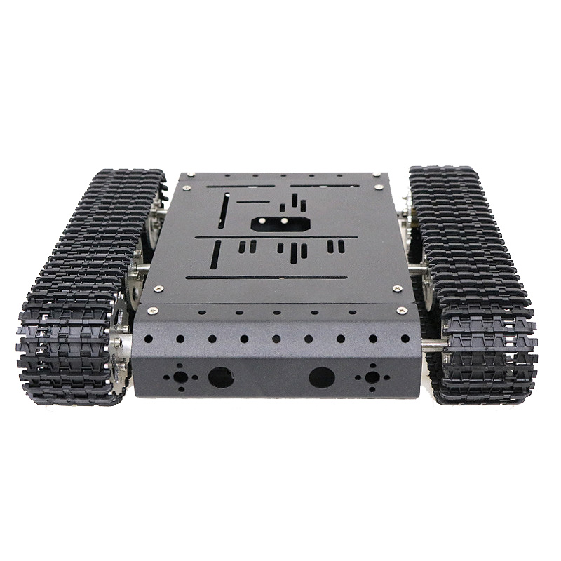 TC100 Arduino Aluminum Alloy Frame Chassis Robot Car Kit Dual 9v 150RPM DC Gear Motor With Hall Code Disk