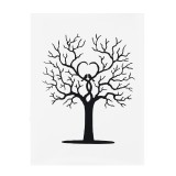 Fingerprint Thumbprint DIY Tree Wedding Signature Sign Guest Book Canvas Sign-in Tree Decorations