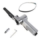 Linear 7100 10mm Pneumatic Air Belt Sander Drawing Machine Polishing Grinding Die-casting Aluminum Tools with 2Pcs Sanding Belts