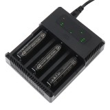Trustfire TR-018 Intelligent Fast 3 Slots Li-ion Battery Charger LED Indicate for 23650 26650 21700 20700 14500 18650 18350 Battery