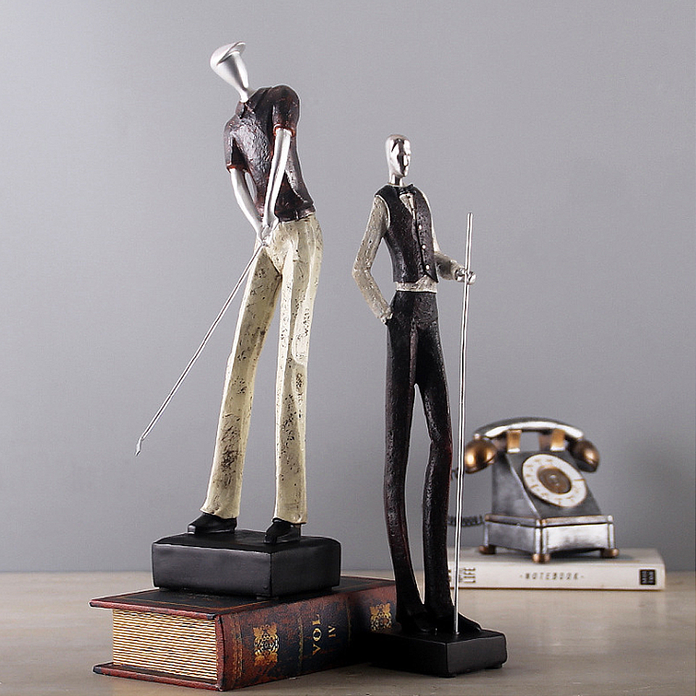 Sportsman Statue Resin Art Crafts Ornaments Home Room Decorations Birthday Gift