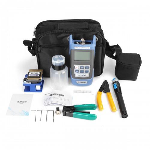 13Pcs Fiber Optical FTTH Power Meter Cleaver Red Light Test Pen Cable Cutter Piper Kit