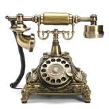 Retro Vintage Push Button Ceramic Antique Telephone Dial Desk Phone Home Decor