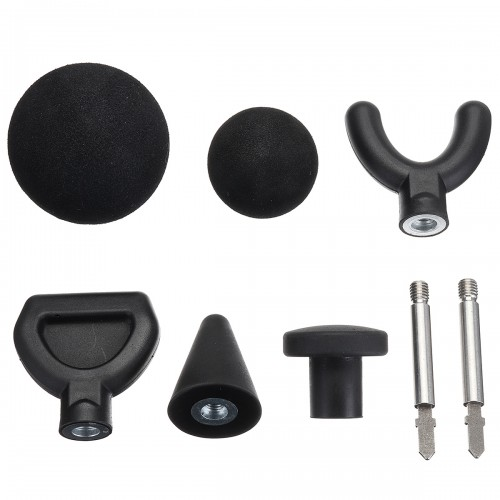 6Pcs Percussion Massage Tip & 2Pcs 75mm Extended Rod For Jigsaw Massager Adapter Attachment Worx