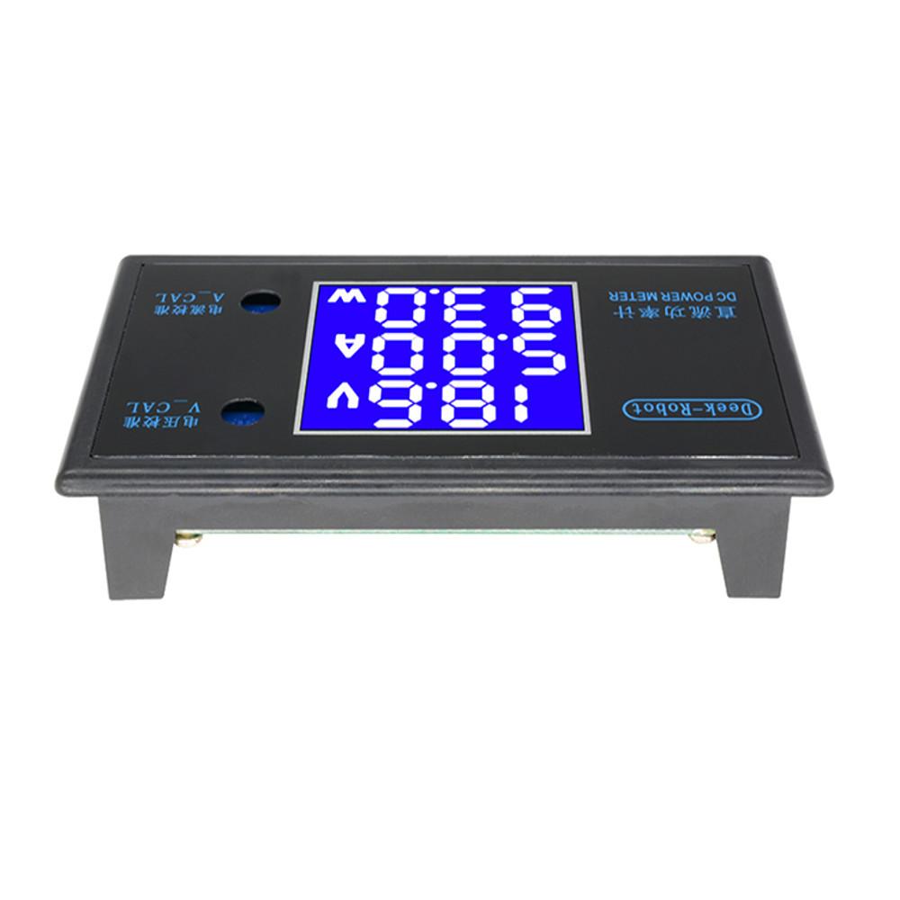 Digital DC 0-100V 0-10A 250W Tester DC7-12V LCD Digital Display Voltage Current Power Meter Voltmeter Ammeter Amp Detector