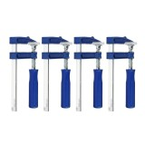 4pcs Woodworking F Clamp Adjustable Wooden Vise Grip Fixed Locking Tools 50-120mm