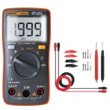 ANENG AN8004 Orange Digital 2000 Counts Auto Range Multimeter Backlight AC/DC Ammeter Voltmeter Resistance Frequency Capacitance Meter + Test Lead Set