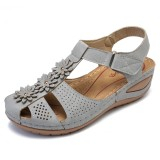 LOSTISY Flowers Casual Soft Sole Lightweight Comfortable Wedges Sandals