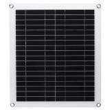 20W Portable Solar Panel Kit Dual USB Polycrystalline Silicon Cell Solar Panel