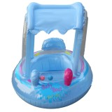 Inflatable Baby Swim Seat Sunshade Buggy Boat Kid Child Float Pool Fun Swimming Air Mattress + Pump