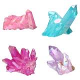 Clear Quartz Cluster Mineral Specimen Crystal Healing Natural Home Decorations