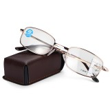 Anti-fatigue Progressive Multi-focus Reading Glasses Foldable Metal Frame Anti-blue Mini Vintage Reading Glasses