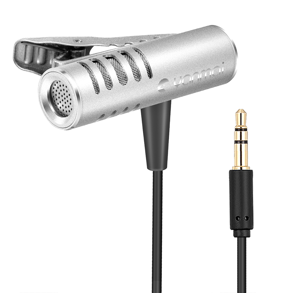 Yanmai R933 Lavalier Omnidirectional Condenser Microphone Clip-on Lapel Condenser Microphone For PC Phone iPad Camera Windows