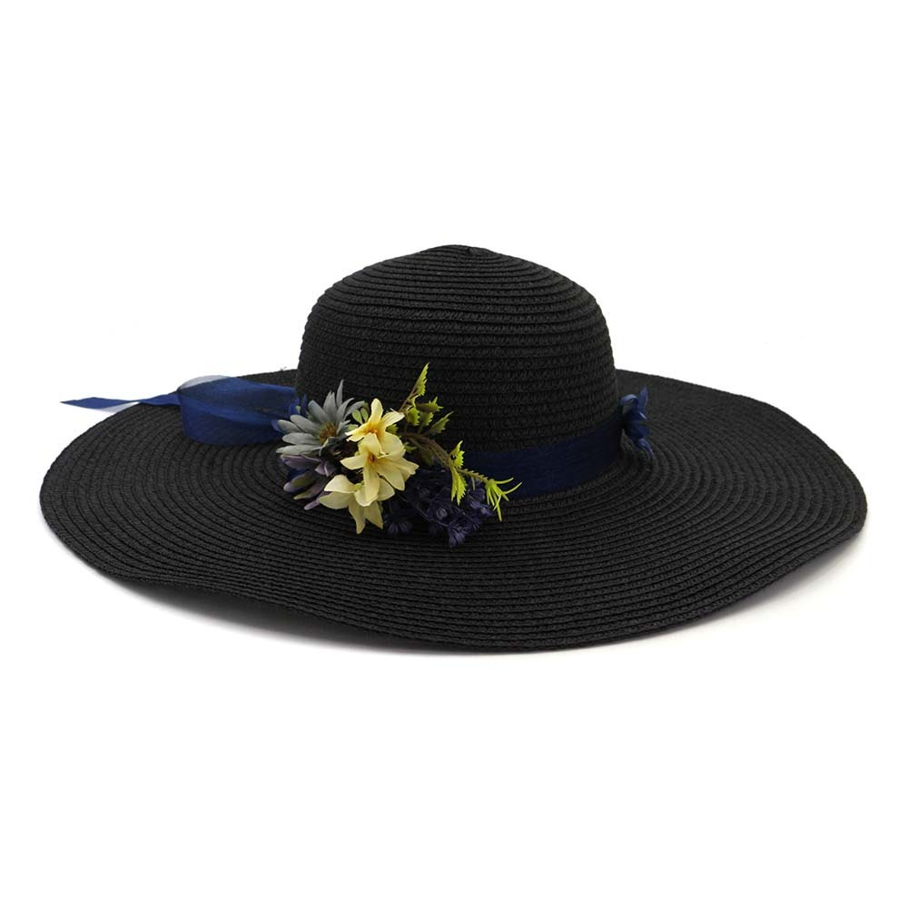 Women With String Foldable Flower Sunscreen Bucket Straw Hat Outdoor Casual Travel Beach Floppy Hat