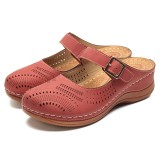 LOSTISY Hollow Out Breathable Casual Soft Sandals