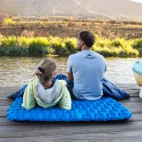 Naturehike NH19Z055-P 200x120cm Inflatable Air Mattresses Double Camping Tent Sleeping Mat Moisture Proof Pad