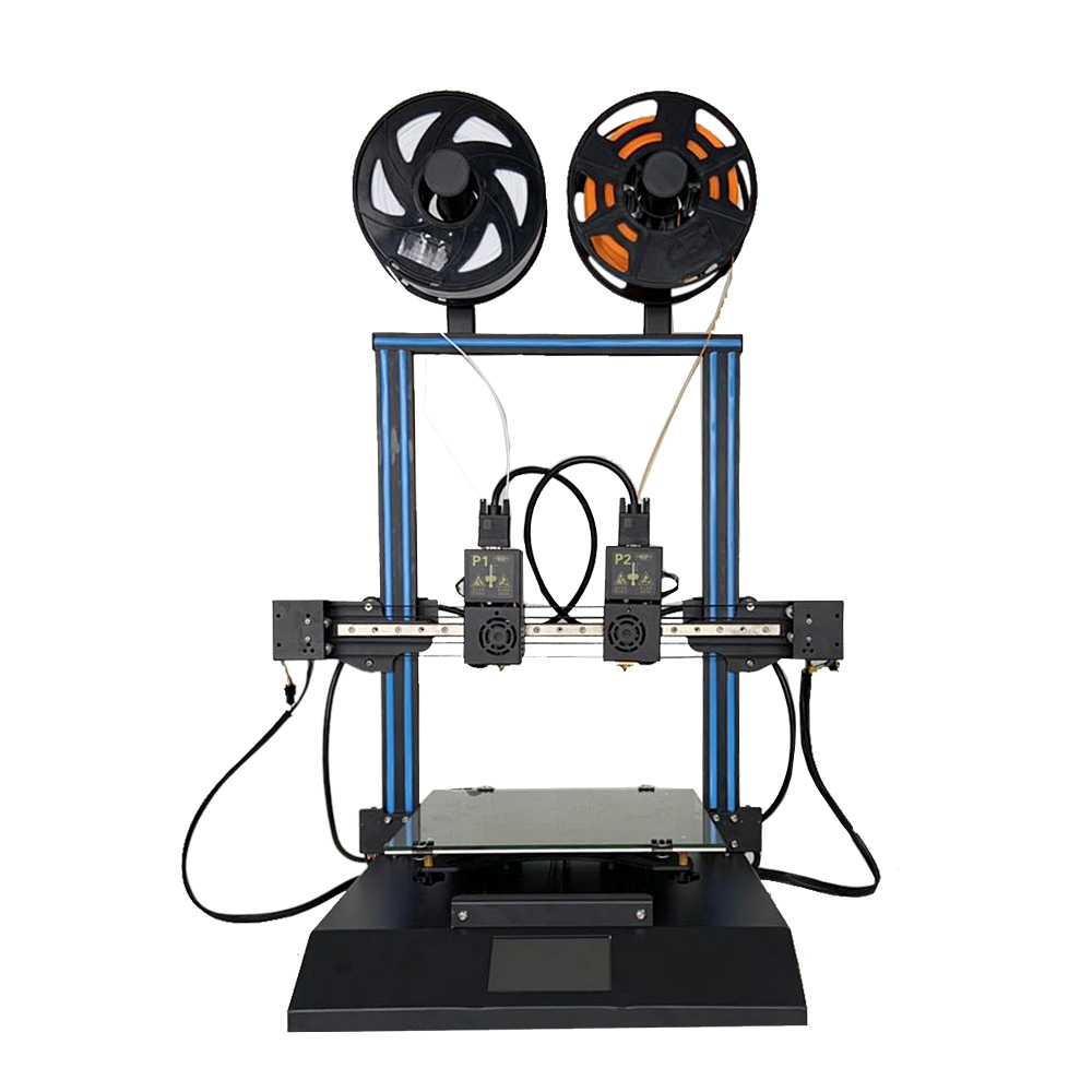 TENLOG TL-D3 Pro Dual Extruder 3D Printer Kit 300*300*350mm Printing Size 4.3inch Large LCD Display Support Dual Nozzle/Print SD Card& USB Connect