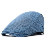 Men Polyester Mesh Breathable Beret Hat Adjustable Sunshade Visor Ivy Newsboy Caps