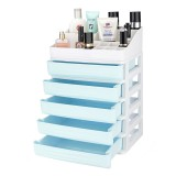 2/3/4/5 Tier Layer Plastic Desktop Organizer Baskets Drawer Jewelry Makeup Case Saving Space Simple Table Storage Box