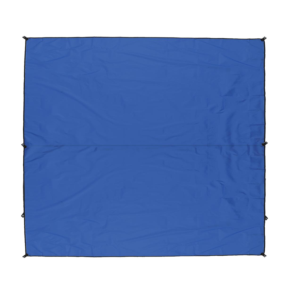 300x300cm Outdoor Camping Tent Sunshade Rain Sun UV Beach Canopy Awning Shelter Beach Picnic Mat Ground Pad