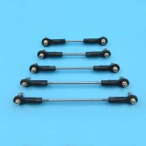 M3 Multiple Adjustable Push Rod+Rod End Ball Joint Linkage Set Assembly Servo Connecting Rod Stainless Steel for RC Aircraft Boat