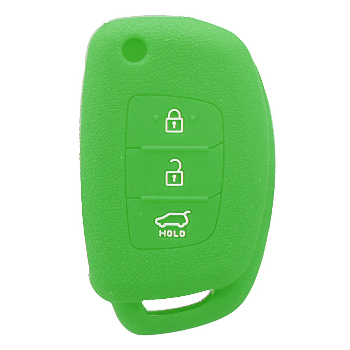 3Buttons Silicone Fob Remote Key Case Cover For Hyundai i30 IX35 Elantra Verna Tucson