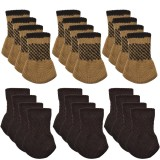 24Pcs/Set Chair Leg Socks Furniture Cover Knitting Sock Sets Floor Protector Table Chair Leg Cap