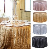 "Round 47"" Sparkly Sequin Tablecloth Table Cloth Banquet Wedding Party Decor Tablecloth"