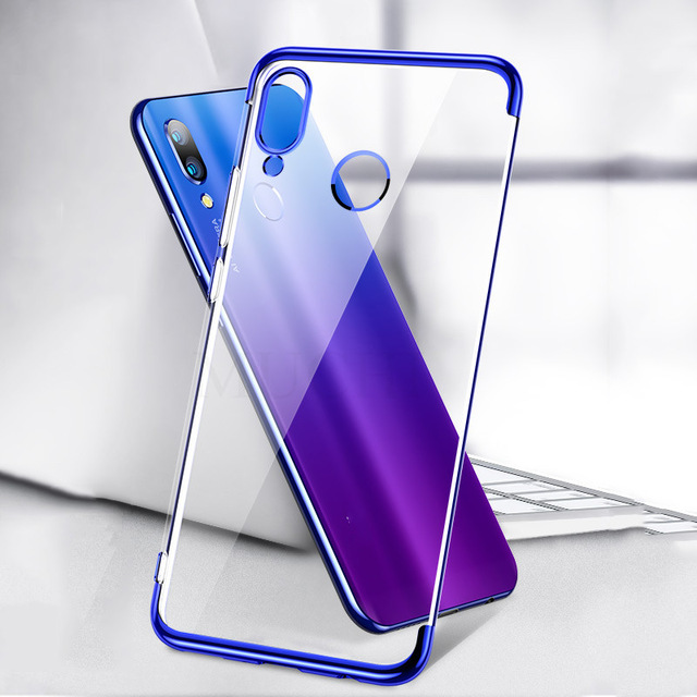 Bakeey Plating Transparent Shockproof Soft TPU Back Cover Protective Case for Xiaomi Mi Play